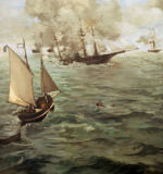 Edouard Manet - Naval Action between the Kearsarge and the Alabama