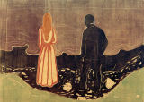 Edvard Munch - Two People (The Lonely Ones) II