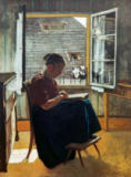 Hans Thoma - The Mother of the Artist in the Little Room