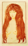 Edvard Munch - Sin, Female Nude with Red Hair and Green Eyes