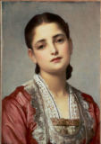 Lord Frederick Leighton - Portrait of a woman