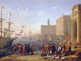 Claude Lorrain - View of a harbour with the Capitol