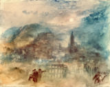 Joseph Mallord William Turner - Heidelberg, Mondlicht