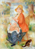 Pierre Auguste Renoir - Motherhood. Nursing mother, 1886