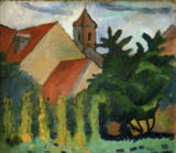 August Macke - Church in Kandern
