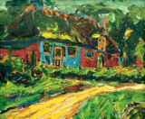 Ernst-Ludwig Kirchner - Old house on Fehmarn