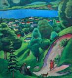 August Macke - Landscape near Lake Tegern