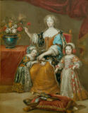 Pierre Mignard - Elisabeth Charlotte, Duchess of Orleans, with her children Philipp and Elisabeth Charlotte