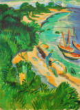 Ernst-Ludwig Kirchner - Fehmarn bay with boats