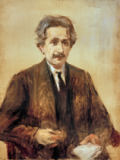 Max Liebermann - Portrait of Prof.Albert Einstein