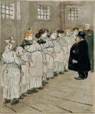 Heinrich Zille - Inspection in Women's Prison