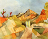 August Macke - Felsige Landschaft