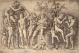 Andrea Mantegna - Bacchanalia and a Barrel of Wine
