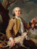 Anonymous AKG - Louis XV as a hunter, holding a partridge