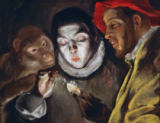 El Greco - Ape, boy lighting a candle and man