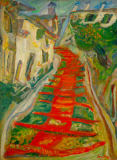 Chaim Soutine - Red Steps in Cagnes