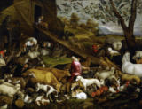 Jacopo da Ponte Bassano - The animals enter Noah's Ark
