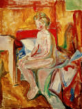 Edvard Munch - Nude Sitting on the Edge of the Bed