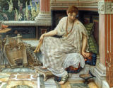 Sir Edward John Poynter - Chloe skilled in sweet measures & mistress of the lyre