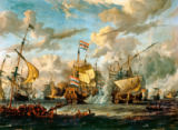 Abraham Jansz Storck - The Battle of the Texel