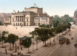 AKG Anonymous - Leipzig, View across the Augustusplatz and onto the Neues Theater (New Theatre)