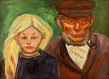 Edvard Munch - The Fisherman and His Daughter