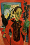 Ernst-Ludwig Kirchner - Self-portrait with cat