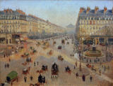 Camille Pissarro - Avenue de l'Opéra. Sunshine, winter morning