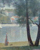Georges Pierre Seurat - The Seine at Courbevoie, 1885
