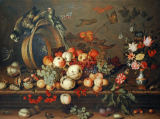 Balthasar van der Ast - Still Life with Fruits, Shells and Insects