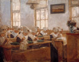 Max Liebermann - Sewing Class in an Orphanage in Amsterdam