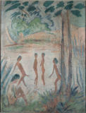 Otto Mueller - Five bathing in lakes