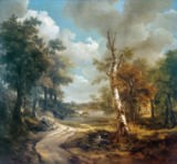 Thomas Gainsborough - Forest Scene with Watering Hole (Cornard Forest)