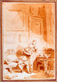 Jean-Honore Fragonard - Illustrations for the Contes