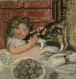 Pierre Bonnard - Little Girl with Cat