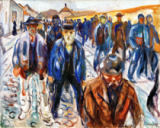 Edvard Munch - Workers on the way home