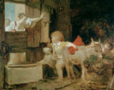 Jean-Honore Fragonard - The Donkey Stall.