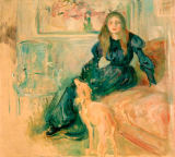 Berthe Morisot - Young girl and greyhound