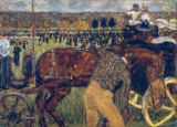 Pierre Bonnard - On the racing course, or horse racing in Longchamp