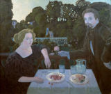 Maurice Denis - Dessert in the garden or Portrait of Marthe and Maurice Denis in evening light