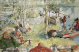 Carl Larsson - Catching crabs