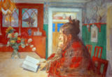 Carl Larsson - Karin reading