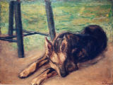 Max Liebermann - Sleeping Alsatian