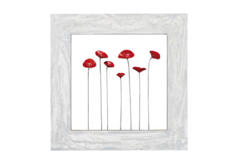 Red poppies I of artist New Life Collection as framed image