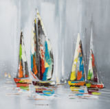 New Life Collection - Colorful sailboats I