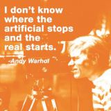 Andy Warhol - I don't know where the artificial stops and the real starts (color square)