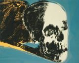 Andy Warhol - Skull, 1976 (yellow on teal)
