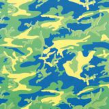 Andy Warhol - Camouflage, 1987 (green, blue, yellow)