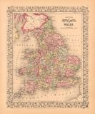 Ward Maps - County Map of England and Wales, 1867
