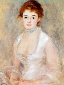 Bildnis der Madame Heriot of artist Pierre Auguste Renoir, Who, Mrs, That, Wife, Woman, Which, Femme, Young